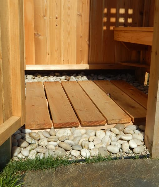 Options For Drainage For Your Outdoor Shower Capecodshowerkits Com