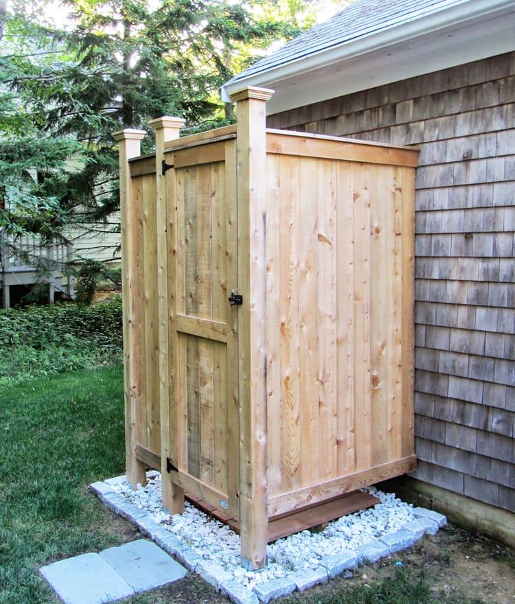 Outdoor Shower Enclosure Cedar