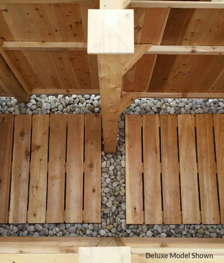 Outdoor Shower Floor Quality Cedar