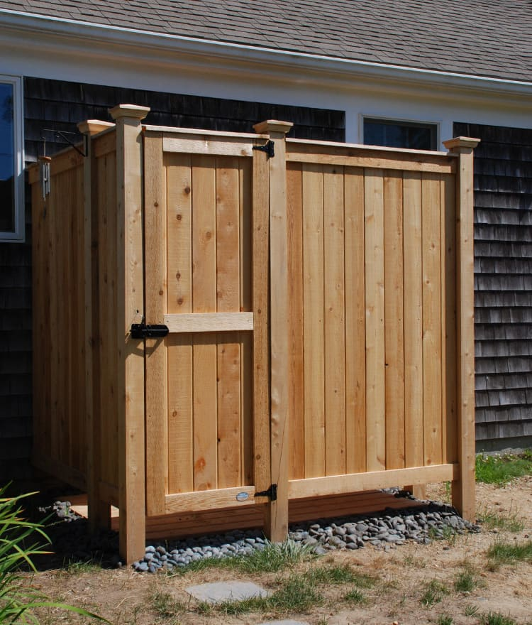 Cedar Outdoor Shower Custom Design