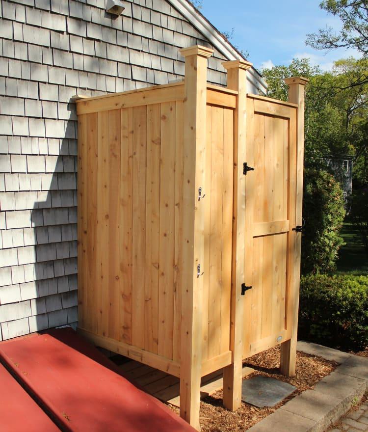 Outdoor Shower Enclosure | Cedar Showers | CapeCodShowerKits.com