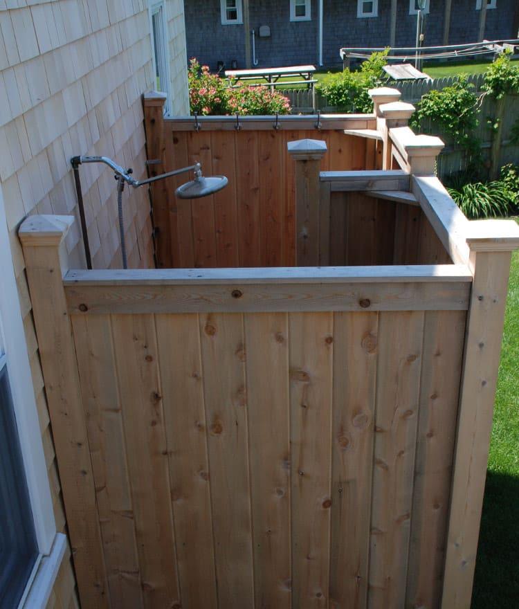 Outdoor Shower Enclosure Cedar, Prefab Outdoor Shower Enclosures