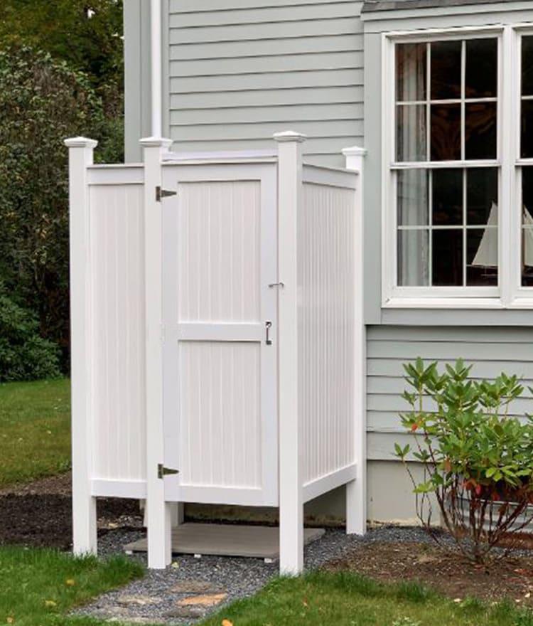 Best Selling PVC Outdoor Shower Kit | Cape Cod Shower Kits